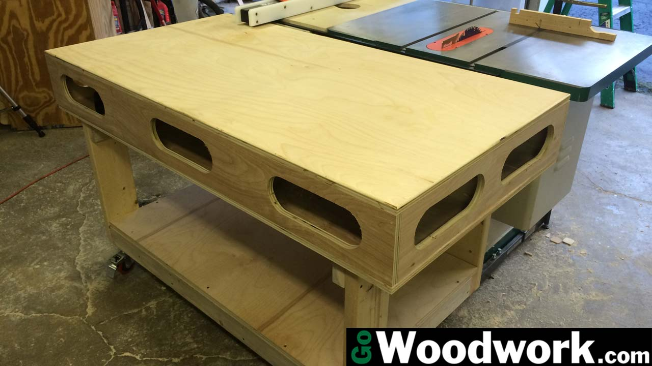 Torsion Box Outfeed and Assembly Table – Go Woodwork
