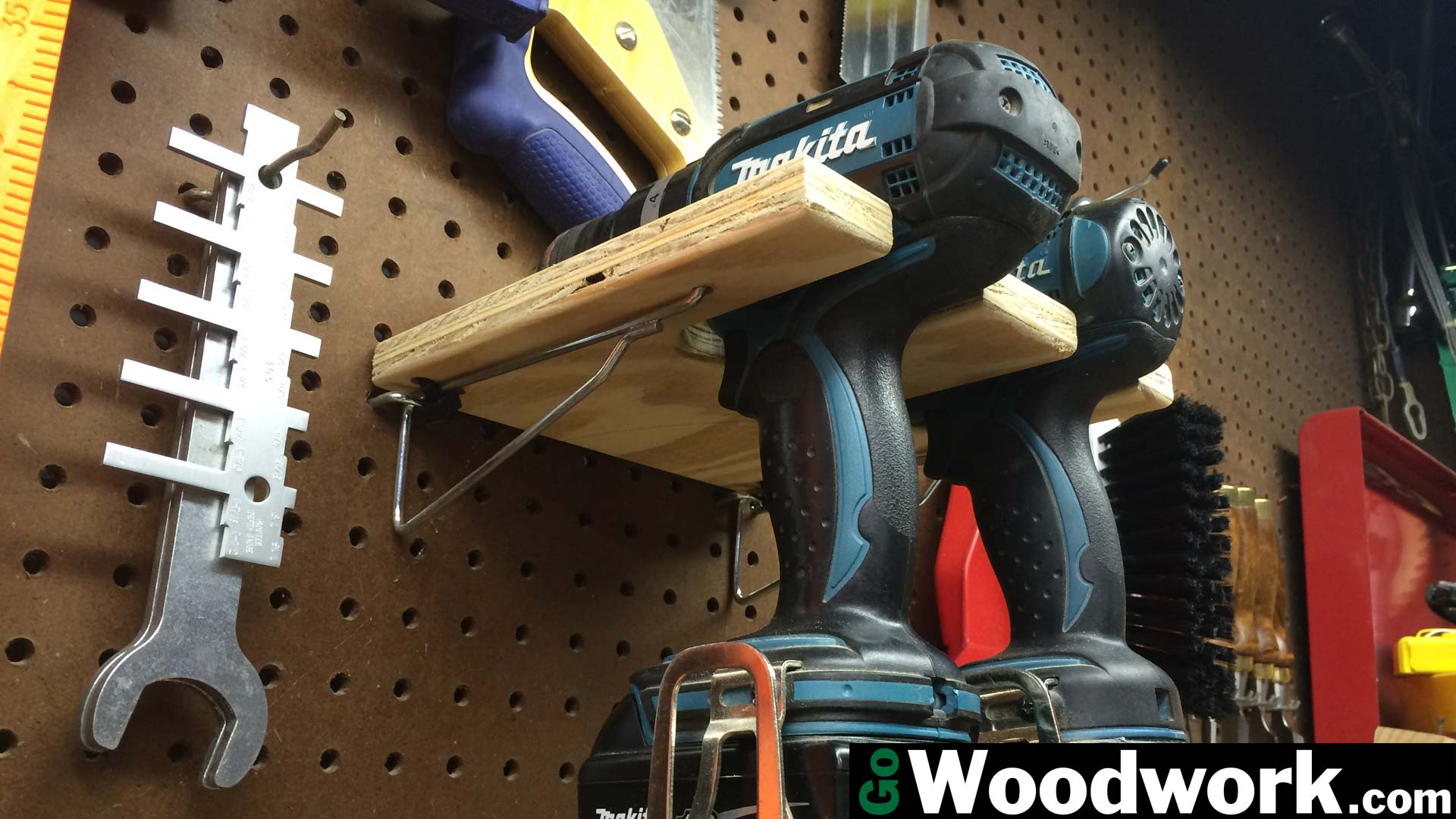 Pegboard Drill Holder – Go Woodwork